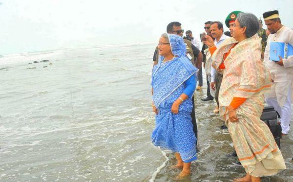 Prime Minister Sheikh Hasina in Inani Beach