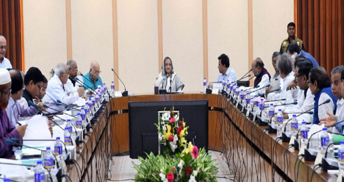 প্রধানমন্ত্রী শেখ হাসিনা ঢাকায় শেরেবাংলা নগরে এনইসি সম্মেলনকক্ষে জাতীয় অর্থনৈতিক পরিষদের নির্বাহী কমিটি ( একনেক ) এর সভায় সভাপতিত্ব করেন-এবিনিউজ