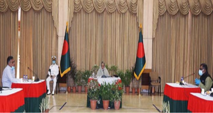 শনিবার প্রধানমন্ত্রী শেখ হাসিনা গণভবনে স্বাস্থ্য সেবা সম্পর্কিত জাতীয় কারিগরি পরামর্শক কমিটি'র সভায় সভাপতিত্ব করেন -পিআইডি