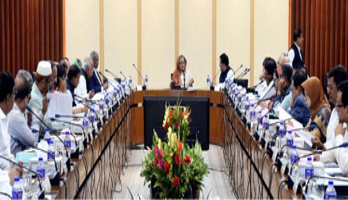 প্রধানমন্ত্রী শেখ হাসিনা বৃহস্পতিবার ঢাকায় শেরেবাংলা নগরে এনইসি সম্মেলনকক্ষে জাতীয় অর্থনৈতিক পরিষদের নির্বাহী কমিটি (একনেক) এর সভায় সভাপতিত্ব করেন-এবিনিউজ