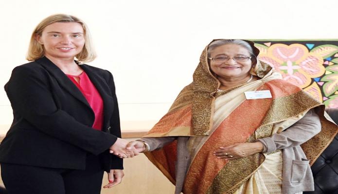 বুধবার প্রধানমন্ত্রী শেখ হাসিনা জাতিসংঘ সদরদপ্তরে জাতিসংঘ মহাসচিবের মিয়ানমার বিয়য়ক বিশেষ দূত Ambassador Christine Schraner Burgener সাক্ষাৎ করেন-এবিনিউজ