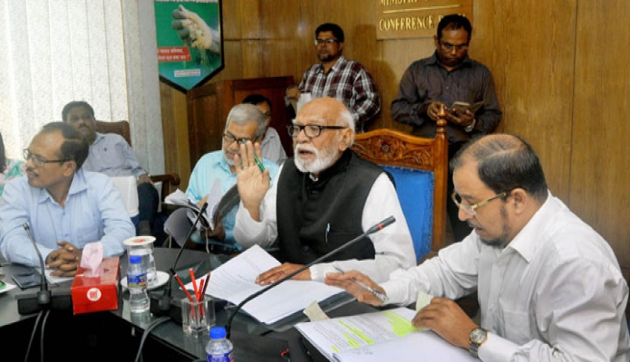 বুধবার ভূমিমন্ত্রী শামসুর রহমান শরীফ মন্ত্রণালয়ের সভাকক্ষে কেন্দ্রীয় ভূমি বরাদ্দ কমিটির সভায় সভাপতিত্ব করেন-এবিনিউজ