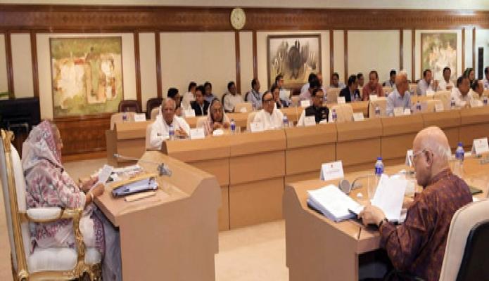 সোমবার প্রধানমন্ত্রী শেখ হাসিনা তাঁর কার্যালয়ে মন্ত্রিপরিষদ বৈঠকে সভাপতিত্ব করেন-এবিনিউজ