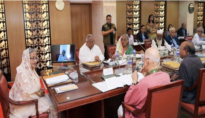 সোসবার ঢাকায় প্রধানমন্ত্রী শেখ হাসিনা সচিবালয়ে মন্ত্রিপরিষদ বৈঠকে সভাপতিত্ব করেন-এবিনিউজ
