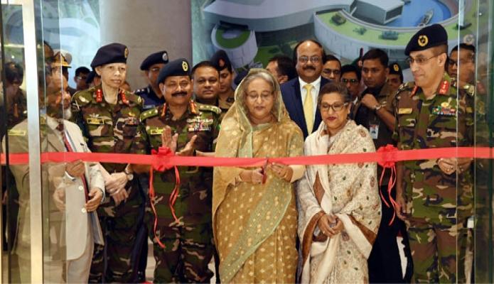 বৃহস্পতিবার ঢাকায় প্রধানমন্ত্রী শেখ হাসিনা বিজয় সরণিতে নবনির্মিত রাষ্ট্রীয় তোশাখানা জাদুঘর উদ্বোধন করেন-এবিনিউজ