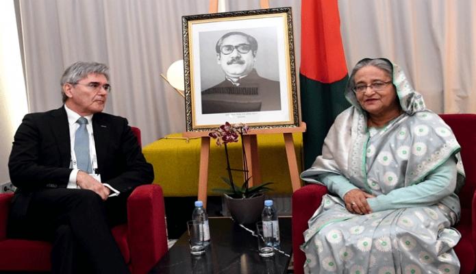 শুক্রবার প্রধানমন্ত্রী শেখ হাসিনার সাথে জার্মানির মিউনিখে তাঁর আবাসস্থলে Siemens AG  এর প্রেসিডেন্ট ও সিইও Joe Kaeser  বৈঠক করেন -পিআইডি