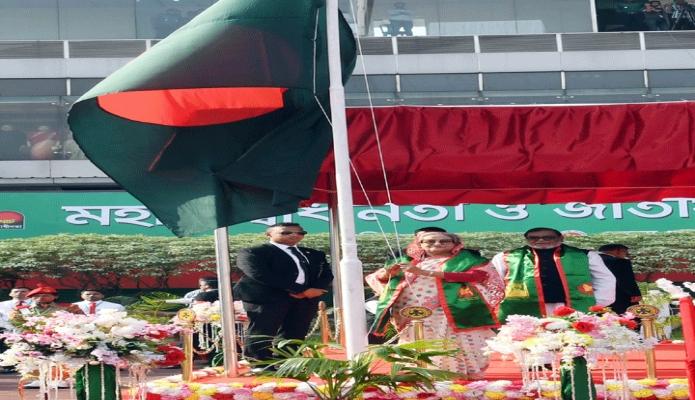 মঙ্গলবার ঢাকা প্রধানমন্ত্রী শেখ হাসিনা মহান স্বাধীনতা ও জাতীয় দিবসে ঢাকায় বঙ্গবন্ধু জাতীয় স্টেডিয়ামে শিশু-কিশোর সমাবেশ ও কুচকাওয়াজ অনুষ্ঠান উদ্বোধন করেন -পিআইডি