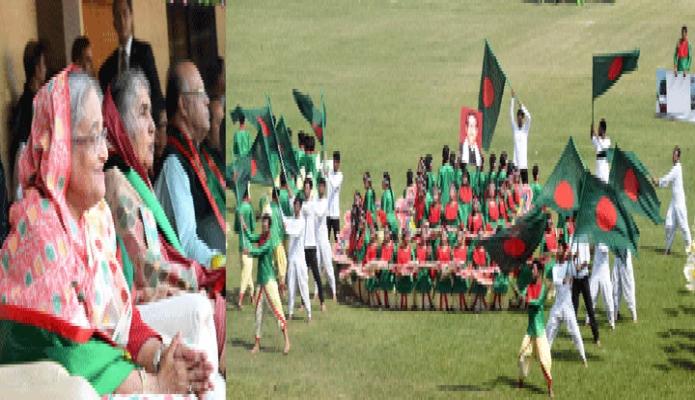 মঙ্গলবার ঢাকা প্রধানমন্ত্রী শেখ হাসিনা মহান স্বাধীনতা ও জাতীয় দিবসে ঢাকায় বঙ্গবন্ধু জা