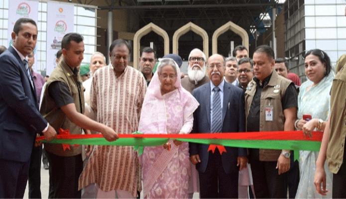 রবিবার প্রধানমন্ত্রী শেখ হাসিনা শেরেবাংলা নগরে বঙ্গবন্ধু আন্তর্জাতিক সম্মেলন কেন্দ্রে ১ম জাতীয় শিল্পকলা-২০১৯ এর উদ্বোধন করেন -পিআইডি
