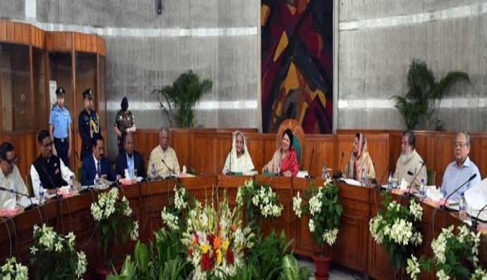 মঙ্গলবার প্রধানমন্ত্রী শেখ হাসিনা ঢাকায় জাতীয় সংসদের একাদশ জাতীয় সংসদের 'কার্য উপদেষ্টা কমিটি'র তৃতীয় বৈঠকে অংশগ্রহন করেন -পিআইডি