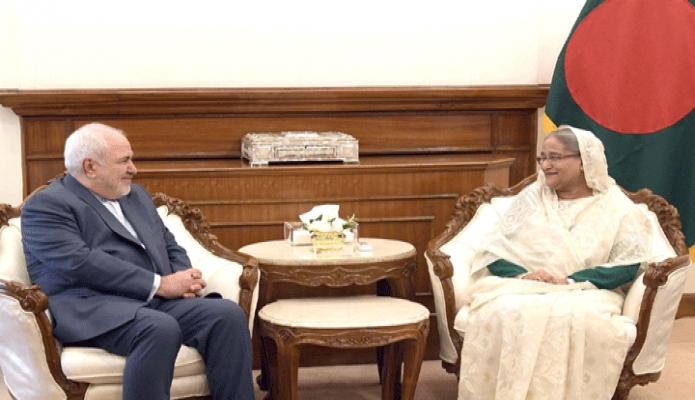 বুধবার প্রধানমন্ত্রী শেখ হাসিনার সাথে তাঁর কার্যালয়ে  ড. মোহাম্মাদ জাওয়াদ জারফি সাক্ষাৎ করেন -পিআইডি