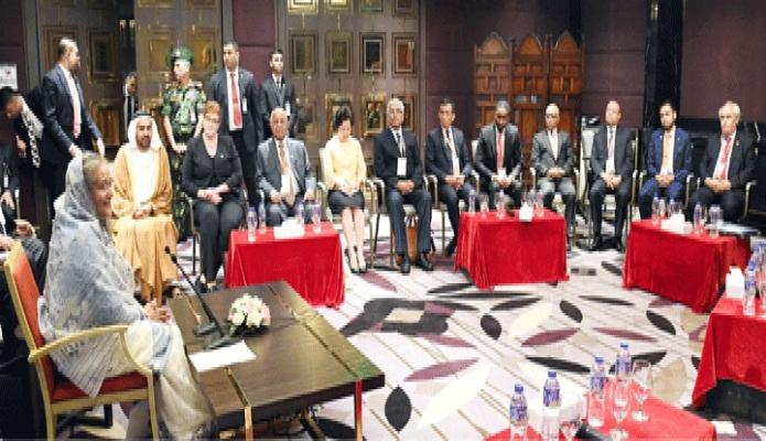 বৃহস্পতিবার প্রধানমন্ত্রী শেখ হাসিনার সাথে ঢাকায় হোটেল ইন্টারকন্টিনেন্টাল 3rd IORA Blue Economy Ministerial Conference 2019-এ অংশগ্রহণকারী রাষ্ট্রসমূহের মন্ত্রী ও প্রতিনিধিবৃন্দ সাক্ষাৎ করেন -পিআইডি