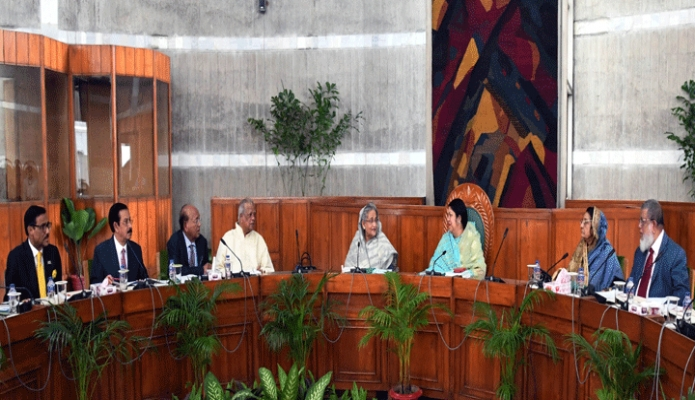 রবিবার প্রধানমন্ত্রী শেখ হাসিনা ঢাকায় জাতীয় সংসদে একাদশ জাতীয় সংসদের কার্য উপদেষ্টা কমিটির বৈঠকে অংশগ্রহণ করেন -পিআইডি