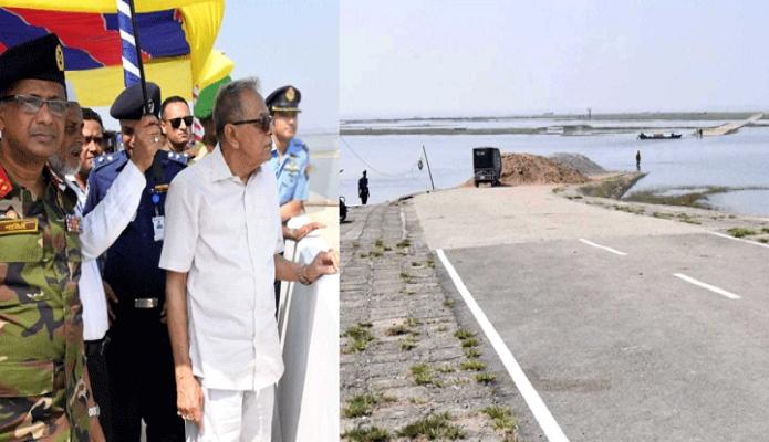 সোমবার রাষ্ট্রপতি মোঃ আবদুল হামিদ কিশোরগঞ্জের ইটনা উপজেলায় বিভিন্ন উন্নয়নমূলক কাজ পরিদর্শন করেন -পিআইডি