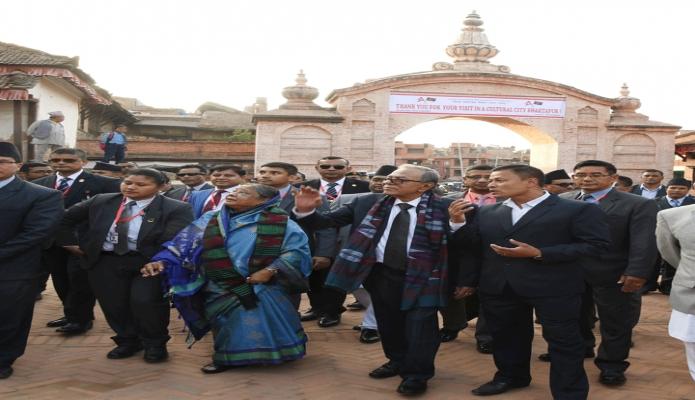মঙ্গলবার রাষ্ট্রপতি মোঃ আবদুল হামিদ নেপালের কাঠমান্ডূতে Bhaktapur Durbar Squre পরিদর্শন করেন -পিআইডি