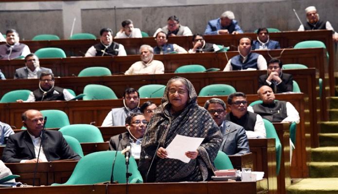 বৃহস্পতিবার প্রধানমন্ত্রী শেখ হাসিনা ঢাকায় জাতীয় সংসদে একাদশ সংসদের ৫ম অধিবেশনে সমাপনী বক্তৃতা করেন -পিআইডি