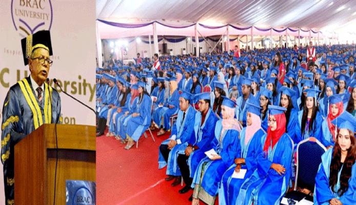 শনিবার রাষ্ট্রপতি মোঃ আবদুল হামিদ ঢাকায় বাংলাদেশ আর্মি স্টেডিয়ামে ব্র্যাক বিশ্ববিদ্যালয়ের ১৩তম সমাবর্তন অনুষ্ঠানে ভাষণ দেন -পিআইডি