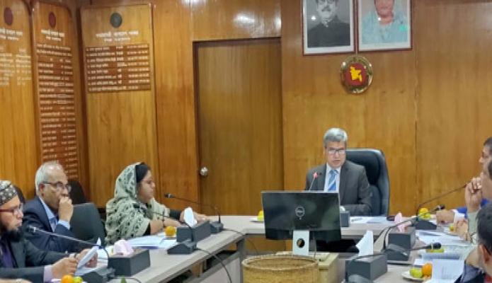 রবিবার শিল্প সচিব মোঃ আবদুল হালিম মন্ত্রণালয়ের সভাকক্ষে জাতীয় উৎপাদনশীলতা কার্যনির্বাহী কমিটি ১৯তম সভায় সভাপতিত্ব করেন -পিআইডি