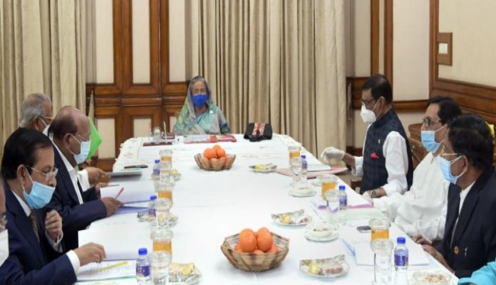 শুক্রবার প্রধানমন্ত্রী শেখ হাসিনা ঢাকায় গণভবনে বাংলাদেশ আওয়ামী লীগের স্থানীয় সরকার জনপ্রতিনিধি মনোনয়ন বোর্ডের সভায় সভাপতিত্ব করেন -পিআইডি