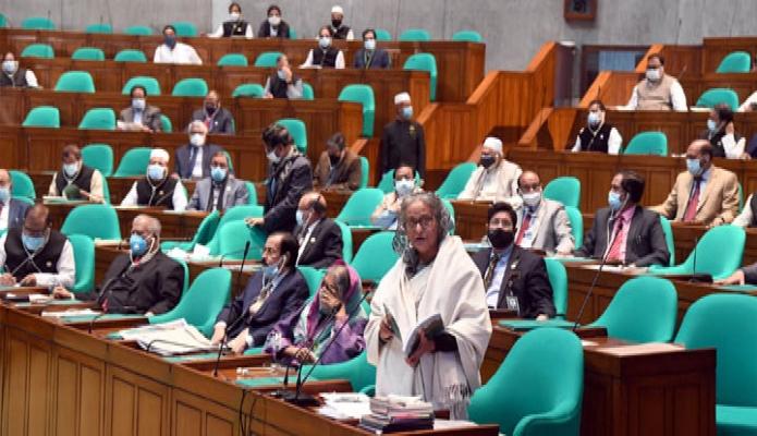 মঙ্গলবার প্রধানমন্ত্রী শেখ হাসিনা জাতীয় সংসদের একাদশ অধিবেশনে সমাপনী বক্তৃতা করেন -পিআইডি