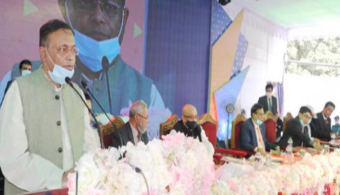 শনিবার তথ্যমন্ত্রী ড. হাছান মাহমুদ জাতীয় বেতার ভবনে 'বিশ^ বেতার দিবস ২০২১' উদ্বোধনীতে বক্তৃতা করেন -পিআইডি
