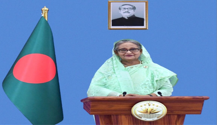 Prime Minister Sheikh Hasina addressed virtually in the P4G Seoul Summit : Inclusive Green Recovery towards Carbon Neutrality held in Seoul, South Korea-pid