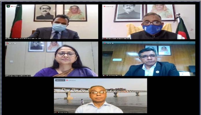 বুধবার অর্থমন্ত্রী আ হ ম মুস্তফা কামাল V20 CLlimate Vulnerables Finance Summit  উপলক্ষ্যে সাংবাদিকদের ভার্চুয়ালি ব্রিফ করেন -পিআইডি