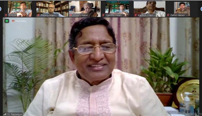 শনিবার কৃষিমন্ত্রী ড. মোঃ আব্দুর রাজ্জাক জুম প্ল্যাটফর্মে  'পারিবারিক কৃষি ও কৃষক : সরকার ও নাগরিক সমাজের করণীয়' শীর্ষক সেমিনারে প্রধান অতিথির বক্তৃতা করেন -পিআইডি
